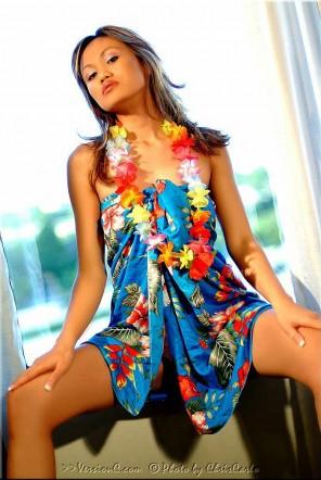 Julie Kay: Blue Hawaiian set 1 - 57 images