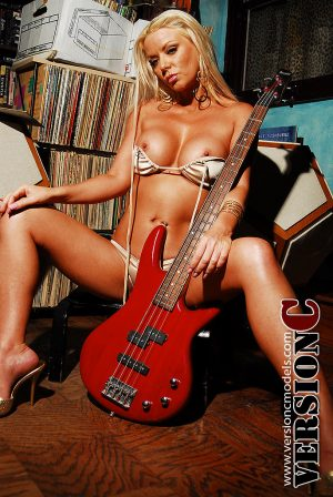Tarney Hall: Guitar and Records set 1 - 57 images (Exclusive Nudes)