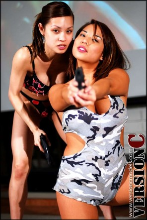 Francine Dee and Christine Mendoza: Gun of Imports set 1 - 47 images