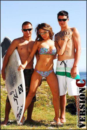 x3 Live Models: Nina Carla - Surfer Love - 45 images