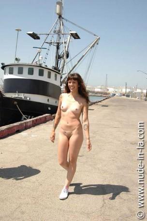 Nude in LA: Kayla Jane – Long Beach Warf set 2 – 55 images