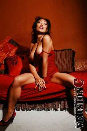 Samantha Liu: Red and Feisty set 1 - 61 images (Exclusive Nudes)