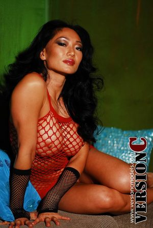 Samantha Liu: Red Net Lounge set 1 - 44 images (Exclusive Nudes)